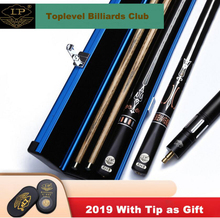 купить LP TZ One Piece Snooker Cue One Piece Billiard Cue Stick with Case with Extension Ash Shaft High-end Snooker Cue 9.5mm 10mm Tip дешево