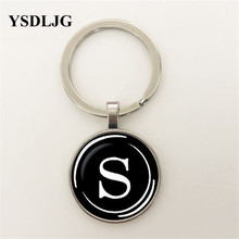 Vintage Typewriter Key pendant Letter S Necklace jewelry Initial N Glass Cabochon Keyring Gift for Women Pendant