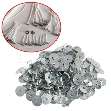 100/200Pcs Candle Wick Metal Sustainer Tabs Silver For Making DIY Candle D14