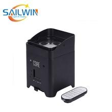 Sailwin сценический светильник ing 4*18 Вт 6в1 RGBAW+ УФ мини-мобильное приложение светодиодный светильник, умный Par проектор для свадебной вечеринки