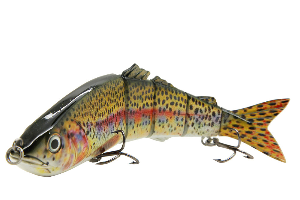 "10"" Life Like Swimbait Fishing Bait Multi Jointed Lures Pike Musky Ocean Boat Fishing Artificial Bait Lure S-PM10-B"