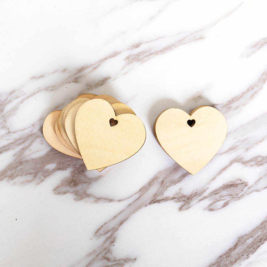 木製心 Hol 、タグや装飾、ゲストブックハート、未完成の木製ハートタグ、結婚式のギフトの装飾