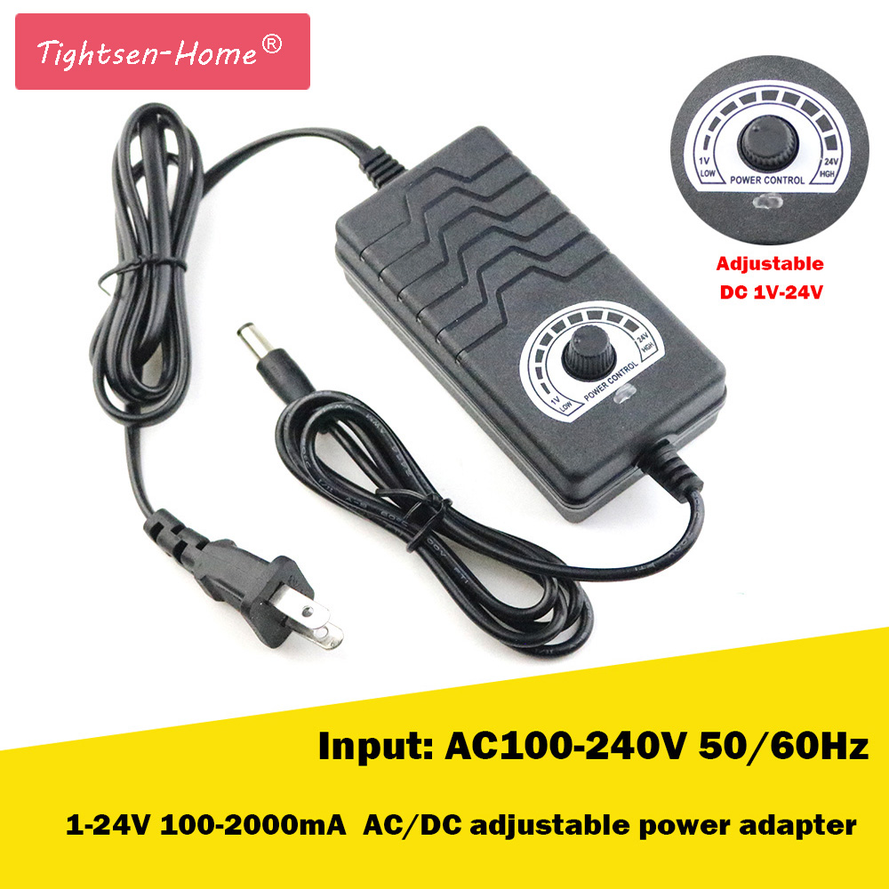 AC/DC 1V-24V 2A Output Voltage Adjustable AC to DC Adapter Motor Speed Controller Power Supply Adapter for Electric Motor DrillAC/DC 1V-24V 2A Output Voltage Adjustable AC to DC Adapter Motor Speed Controller Power Supply Adapter for Electric Motor Drill