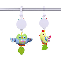 Newborn Infant Cartoon Handbells Baby Music Hanging Baby Rattle Music Box Bed Bells Toys Seat Plush