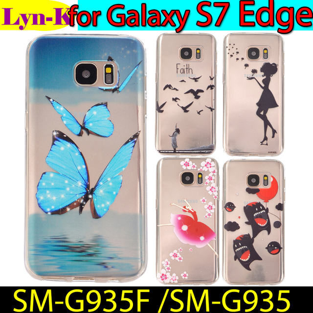 SM-G935F / SM-G935 Ultra Slim Skin TPU Protective cover Case sFor Samsung Galaxy S7 Edge Silicon Back Cases FOR SAMSUNG S7 Edge