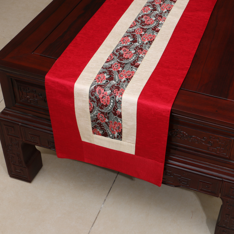 Handmade Rustic Modern Lace Table Runner Patchwork Damask Cotton - Home Textile - Photo 6