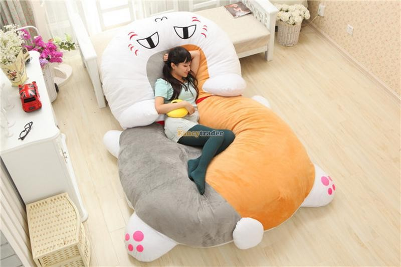 Fancytrader High Quality Cat Bed 210cm X 150cm Huge Giant Cute Cat Tatami Bed Carpet Sofa, Gift For Girls, Free Shipping FT90287 fancytrader high quality goat bed 200cm x 150cm super cute huge giant pretty goat tatami carpet sofa bed free shipping ft90295