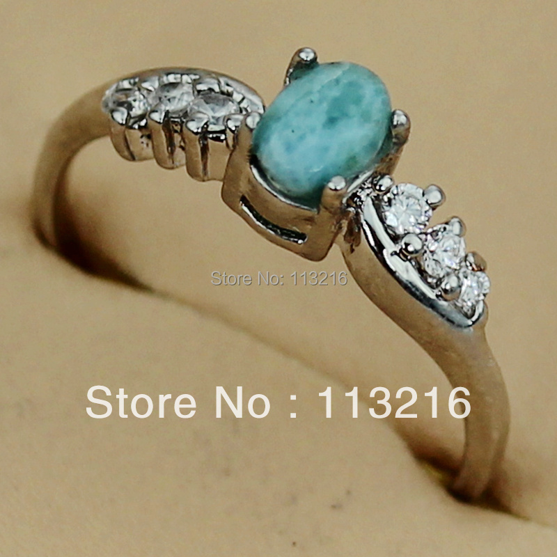 Fleure Esme wedding rings Pretty Lady Wholesale Larimar and White