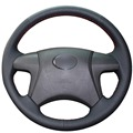 Black Artificial Leather Car Steering Wheel Cover for Toyota Highlander Toyota Camry 2007-2011