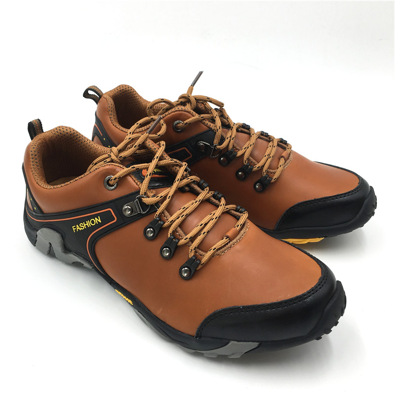 Brand Walking Shoes Men Leather SneakersWinter Outdoor Climbing Camping Non-slip Ultra-light Shoes Wearable Shoes Footwear jx2