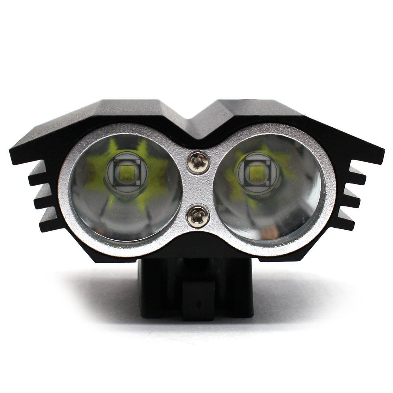 LED T6 M2 Bicycle Lights Two Lights Owls Strong Light Charging Front Mounted Headlamps