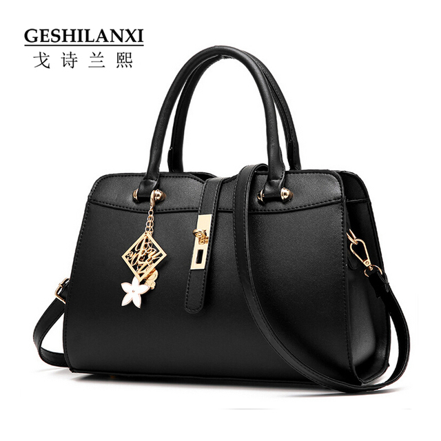 Fashion Leather Hand Bags Petals On Handbags Women Famous Brands Luxury From The