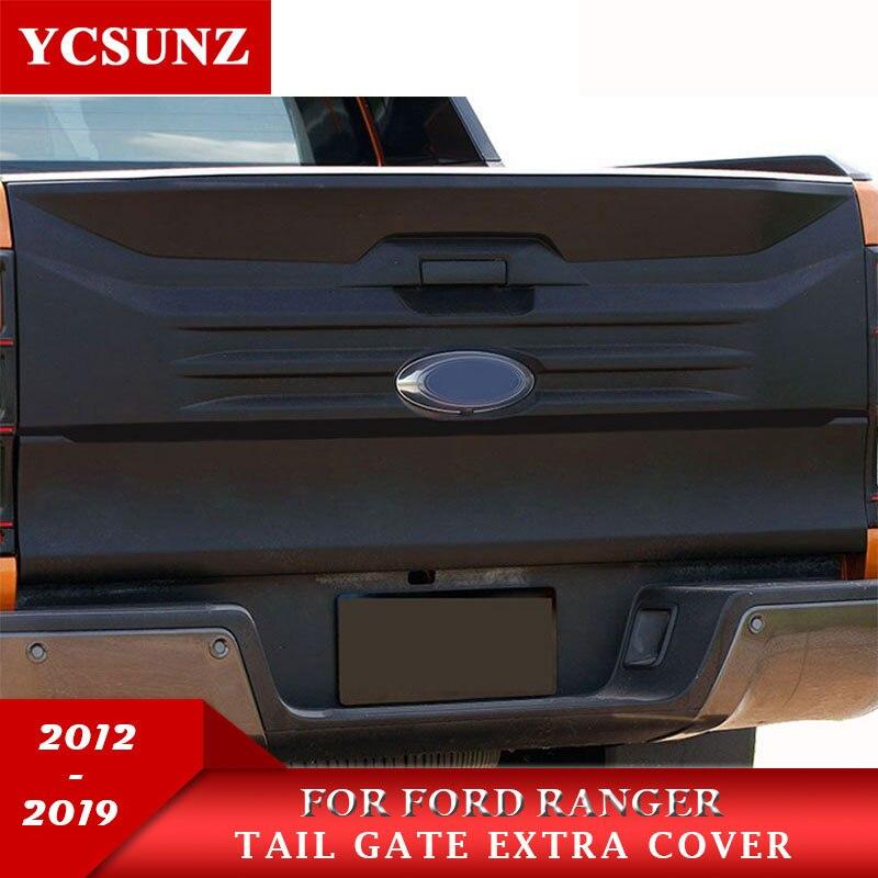 Revêtement sur porte arrière Pour Ford Ranger 2019 T6 T7 T8 2012 2013 2014 2015 216 2017 2018 2019 Wildtrak