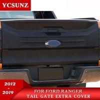 cladding on back door For Ford Ranger 2019 T6 T7 T8 2012 2013 2014 2015 216 2017 2018 2019 Wildtrak