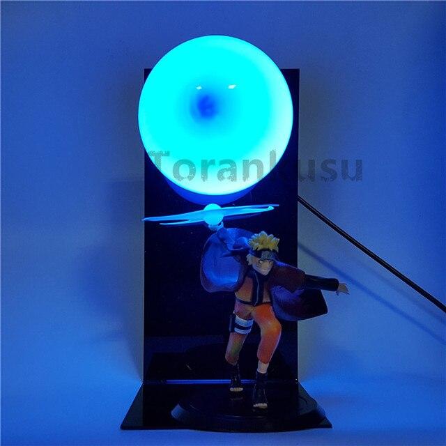 Naruto Action Figure Led Light Rasengan Model Toy Anime Naruto Shippuden Uzumaki Naruto Figurine Sasuke Namikaze Minato