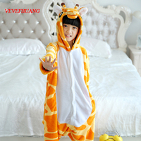 VEVEFHUANG Winter Flannel Kids Boy Girl Pajamas Sets Animal Onesie Costumes Giraffe Cosplay Pajamas Baby Children
