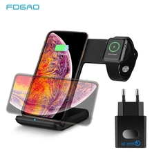 2 in 1 Wireless Charger For iPhone XS XR X 8 10W Fast Qi Phone Wireless Charging Stand Dock for Apple Watch Series iWatch 4/3/2