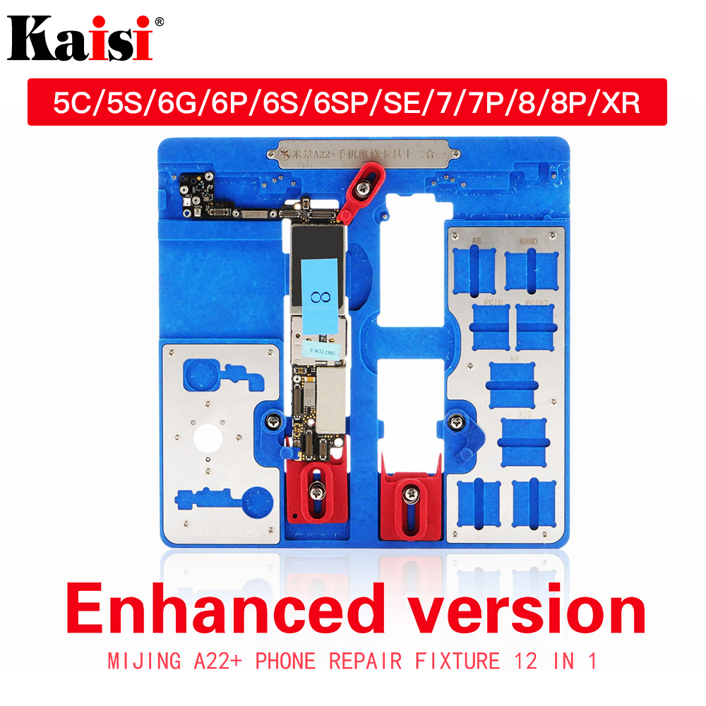 12 In 1 PCB Holder Repair Tool For IPhone 5C 5S 6G 6S 6P 6SP SE 7G 7P 8G 8P XR BGA Fixture Holder Logic Board Clamps