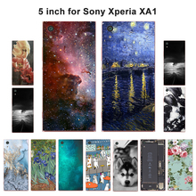 "Мягкий чехол из ТПУ для sony Xperia XA1, чехол для телефона с пейзажем, чехол s для sony XA1 G3121 G3112 G3123 G3116, двойной чехол 5,0"""