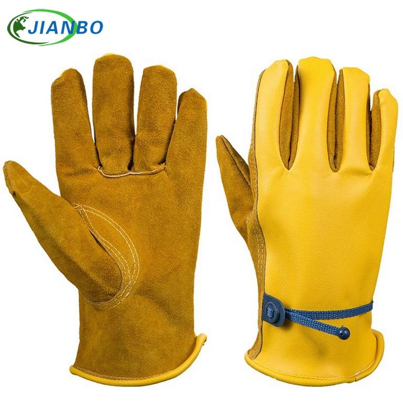 Garden gardening leather PU gloves oil protection gloves labor insurance supplies barbecue gloves  цены