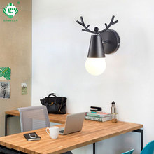 Black LED Wall Lamps Retro Vintage E27 Bulb Light For Reading Bathroom Hotel Bedroom Indoor Night Lighting Sconces