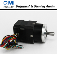 High Reliability Gear Brushless Dc Motor Planetary Gearbox Ratio 10 1 With NEMA 17 30W 24V