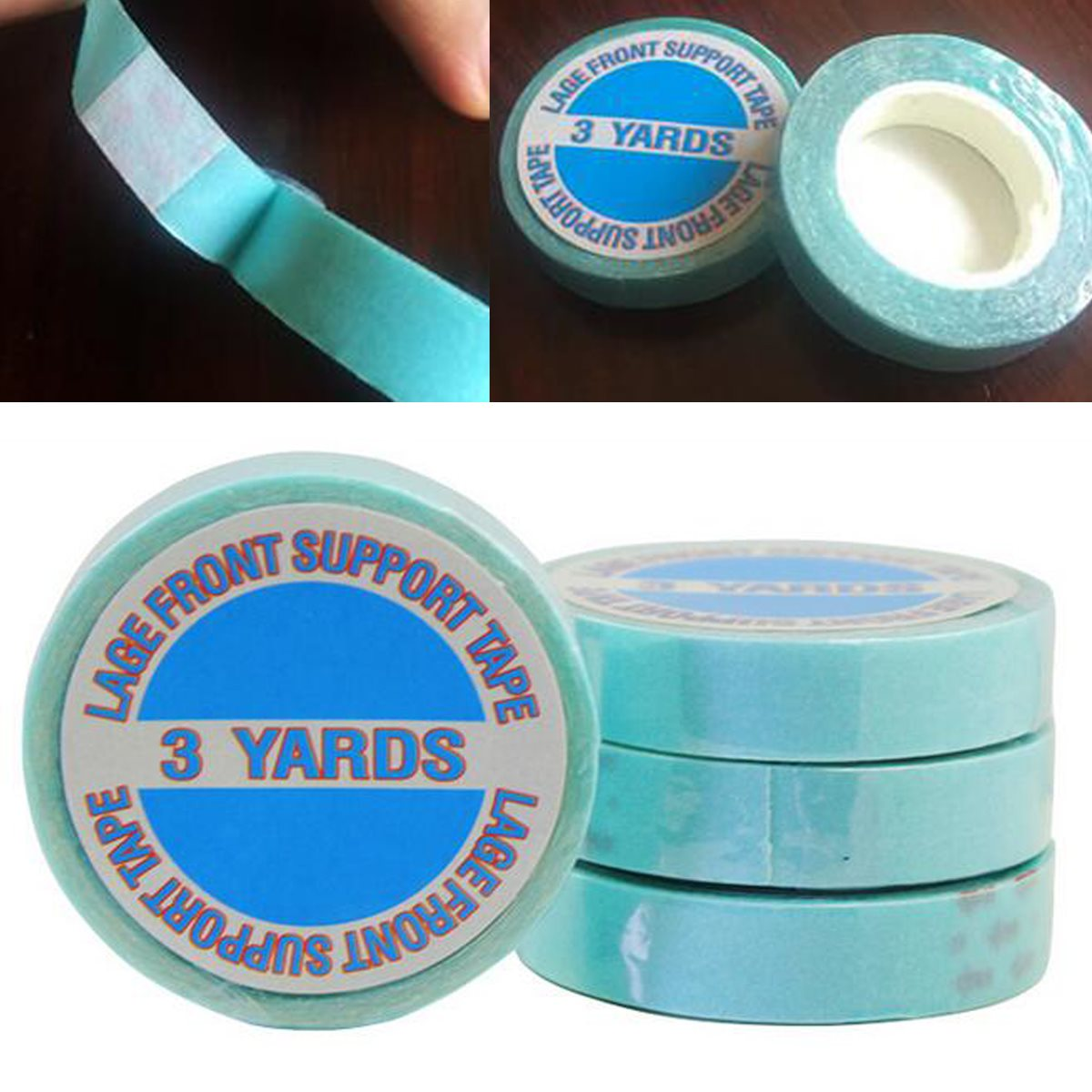 Hair Extensions & Wigs Tools & Accessories 1 Roll 1 Cm*3 Yards Super Hair Blue Tape Double-sided Adhesive Tape For Hair Extension/lace Wig/toupee