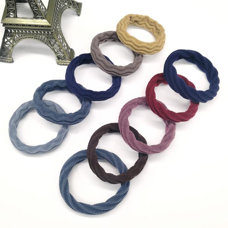 5pcs Fashion Hair Rope New High Resilience Seamless Rubber Hair Band Elastic Hair Band For Baby Kid Hair Braider Ponytail Holder