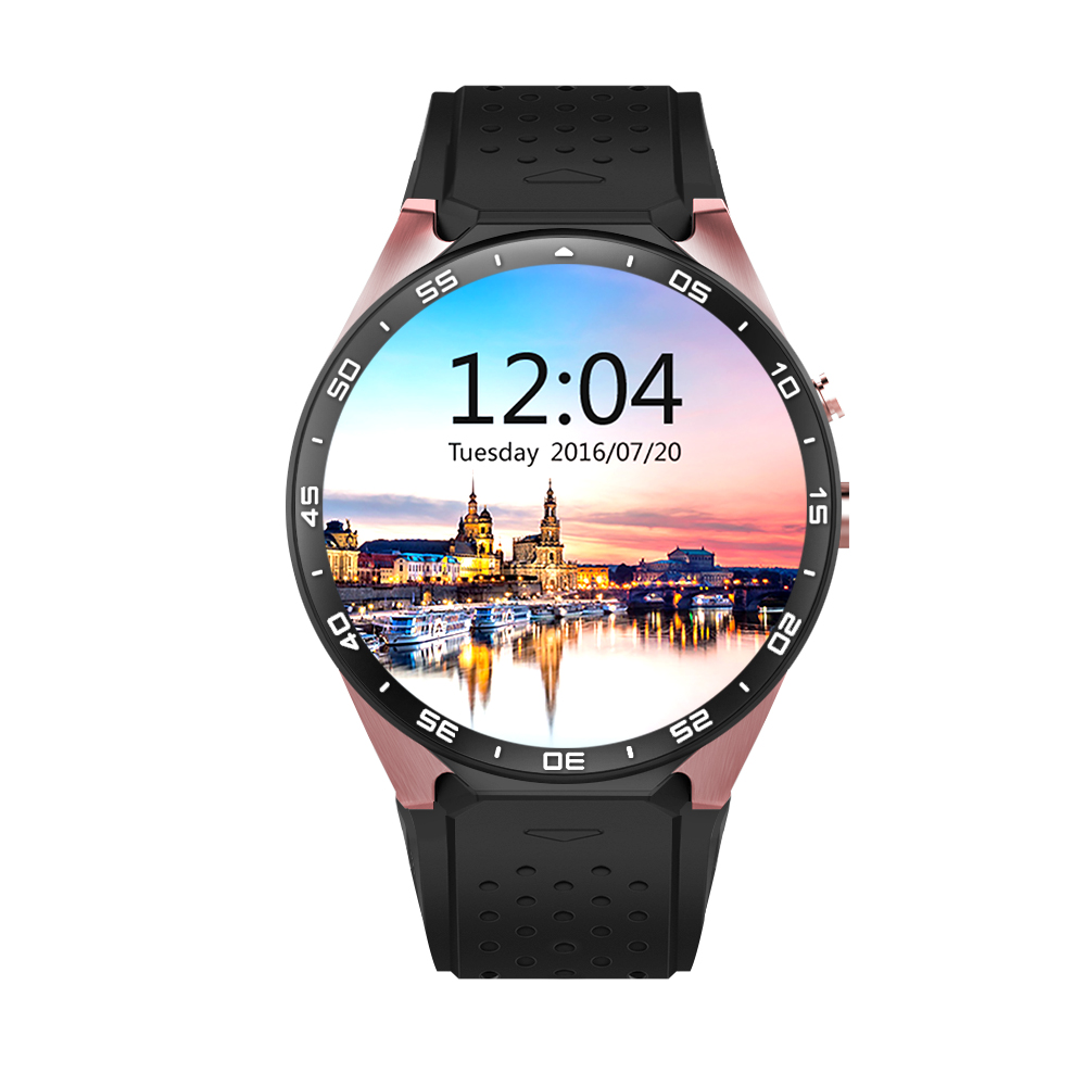 Smart Watch KW88 MTK6580 1.39 inch Android 5.1 Bluetooth 4.0 3G Amoled Screen Quad Core 512MB RAM 4GB ROM GPS Pedometer