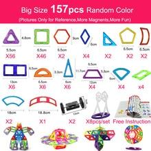 Magnet-Toys Construction-Set Educational Building Children Model for 44-157pcs Big-Size