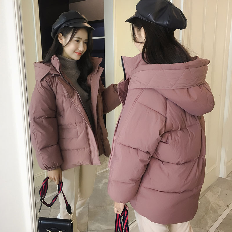 Winter Clothes Ladies Outerwear Maternity Pregnant Coats Student Style Cotton Down Jacket Short Hooded