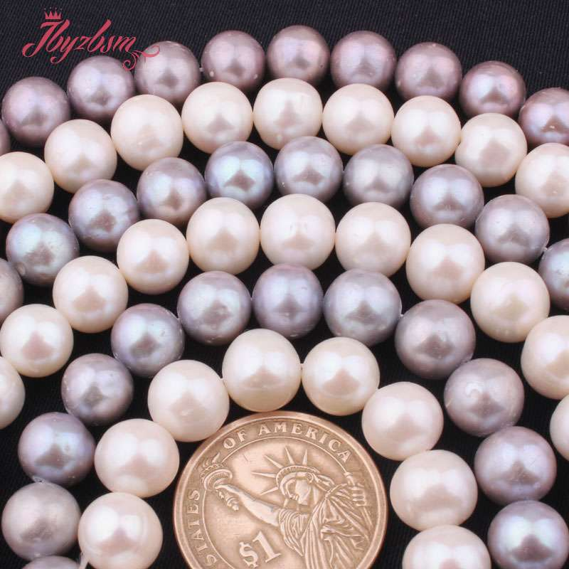 Image 3 - 9.5mm 11mm AA Grade Nearround Freshwater Pearl Loose Natural  Stone Beads For Jewelry Making DIY Necklace Bracelets Strand 15stone  beadsnatural stone beadsbeads free shipping