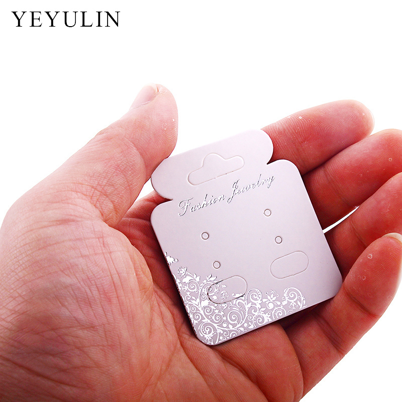 100pcs New Design 3 Style Rectangle Earring Display Cards Jewelry Holder Gift Shop Tags Wholesale