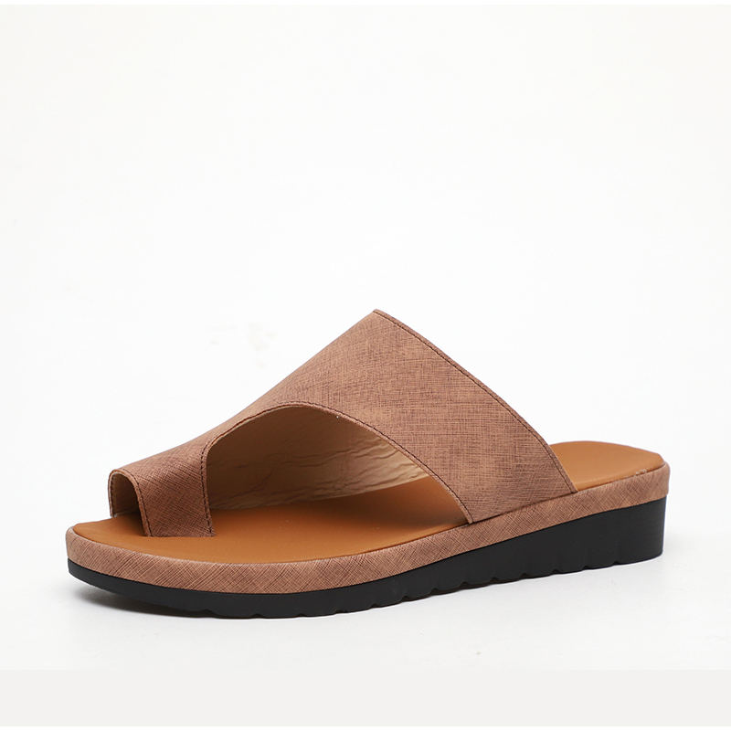 HTB1mrjIawaH3KVjSZFjq6AFWpXaL MCCKLE Women Comfy Plain Shoes Flat Platform Ladies Casual Big Toe Foot Correction Sandals Orthopedic Bunion Corrector Flip Flop