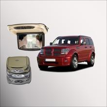 Bigbigroad Для Dodge Nitro Калибр крыше автомобиля установлен в автомобиль светодиодный цифровой Экран с HDMI USB FM ТВ игры ИК дистанционного флип Подпушка DVD