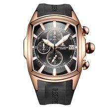 Водонепроницаемые спортивные часы Reef Tiger/RT, розовое золото, резиновый ремешок, военные мужские часы, мужские часы, 2020