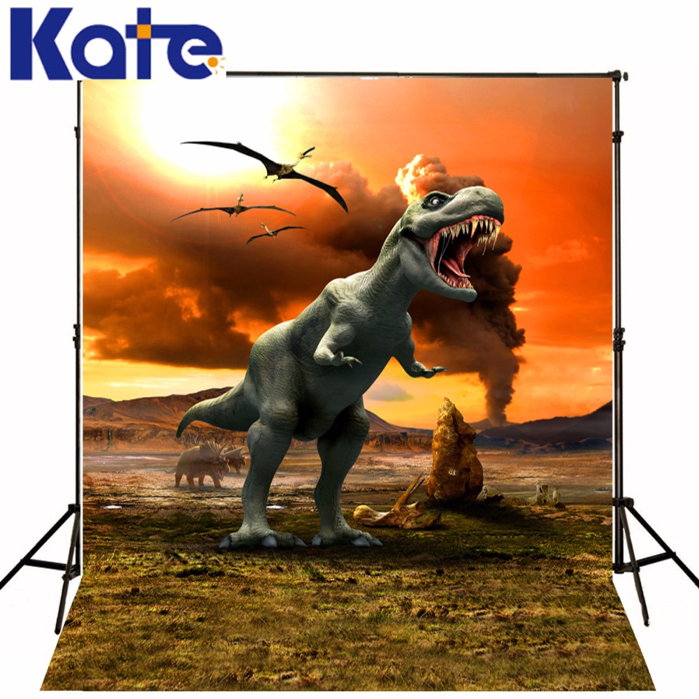 Kate  Photo Background Vintage Jurassic World Tyrannosaurus Rex Photography Backdrops For Children Studio Backdrop сумка kate spade new york wkru2816 kate spade hanna