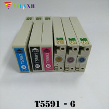 T5591 T5592 T5593 T5594 T5595 T5596 Ink Cartridge for Epson Stylus RX700