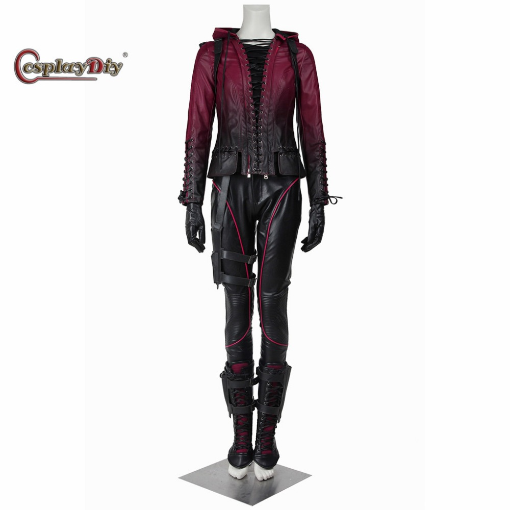 Green Arrow Cosplay Green Arrow Season 4 Speedy Thea Queen Costume Adult Women Halloween Cosplay Outfit Custom Made D0319