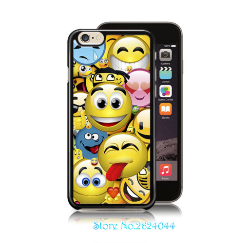 Cool Smiley Faces illusion Emoji Sticker Bomb phone case cover for iphone 4 4s 5 5s 5c SE 6 6s & 6 plus 6s plus 7 7 plus &ss145