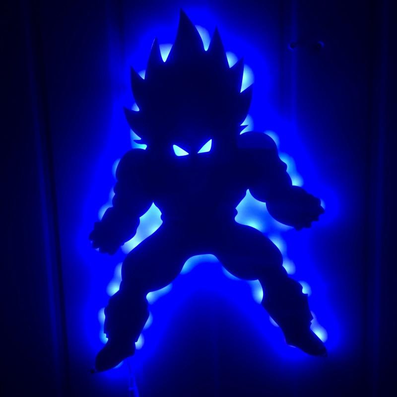 Dragon ball 3D Led Wandleuchte Nachtlicht Vegeta Kreative Action - Nachtlichter - Foto 3