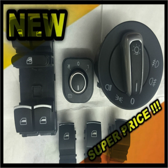 New Window Mirror Headlight Switch For VW Jetta 6 Golf GTI 5 6 Touran Tiguan Caddy Passat B6 CC 5ND959857 5ND959565B 5ND941431A