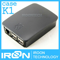 case K1: Official Original Raspberry PI 3 Case Box.Black ABS Plastic Case Enclosure Cover Housing Shell for Ras PI3 model B