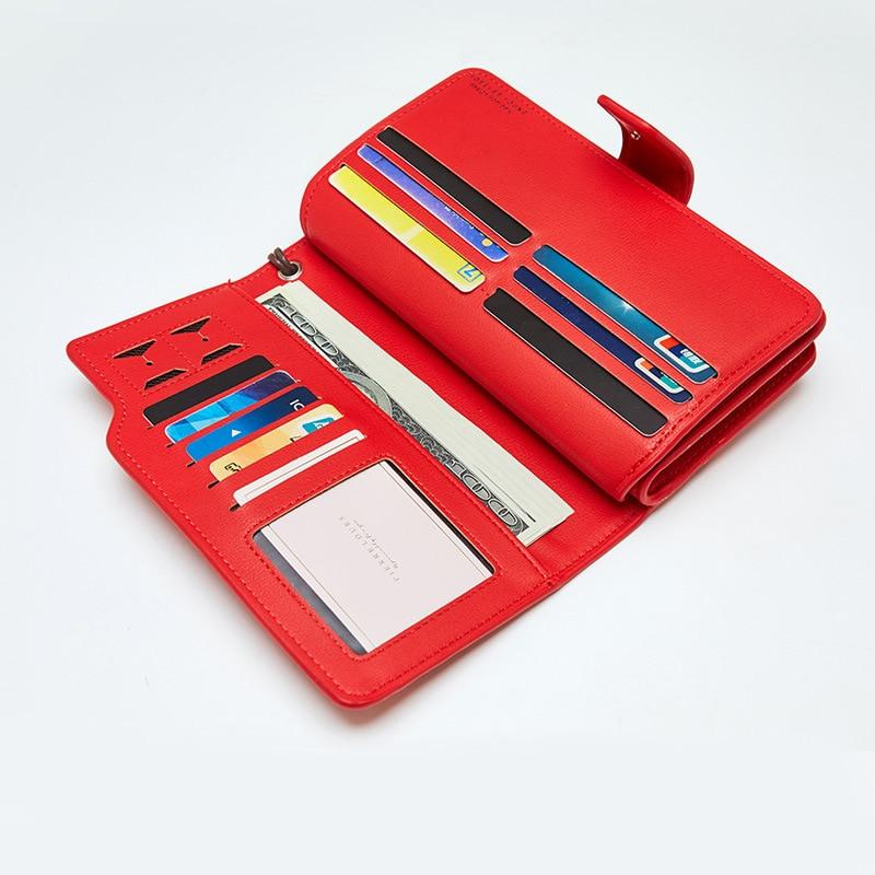 Женский кожаный кошелек, кошелек для отдыха, 3 сложения, высокое качество, Женский Длинный кошелек для монет, много слотов для карт, кошельки, Carteira Feminina