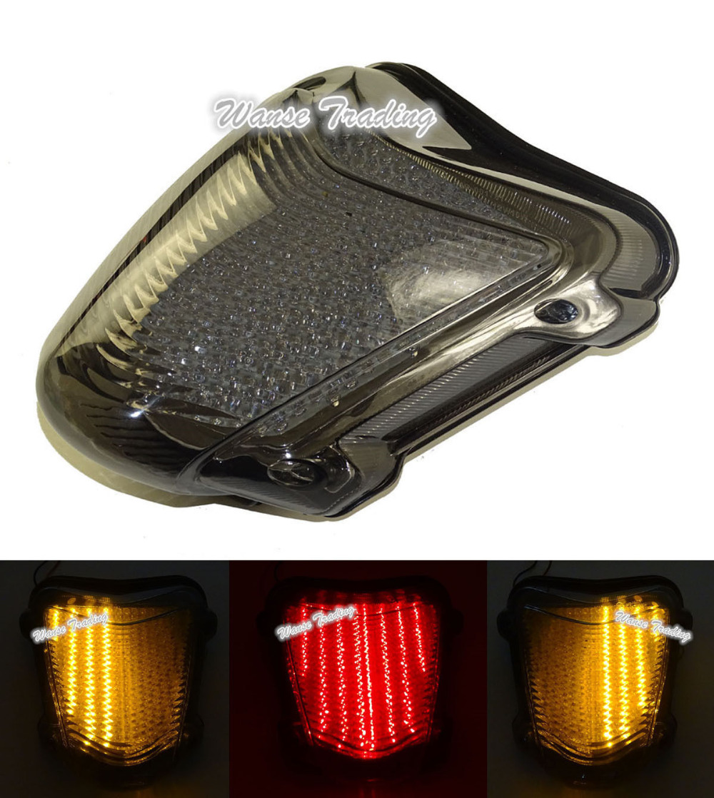 For SUZUKI Hayabusa GSXR1300 GSX1300R 2008 2009 2010 2011-2016 E-Mark Rear Tail Light Brake Turn Signals Integrated LED Light aftermarket free shipping motorcycle parts led tail brake light turn signals for 2008 2012 suzuki hayabusa gsx1300r clear