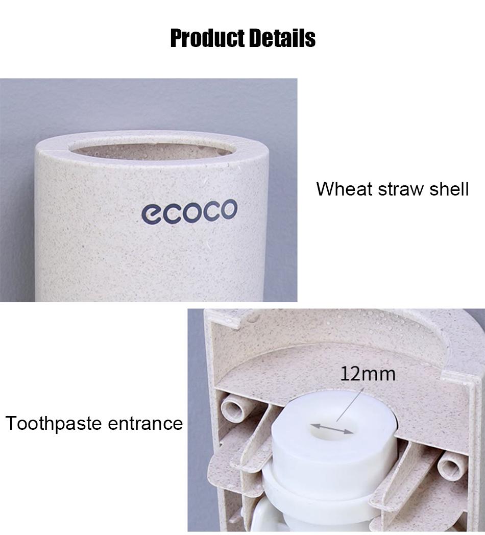 HTB1mrkXeUGF3KVjSZFvq6z nXXao - BAISPO Automatic Toothpaste Dispenser Toothbrush Holder Wall Mount Stand Bathroom Accessories