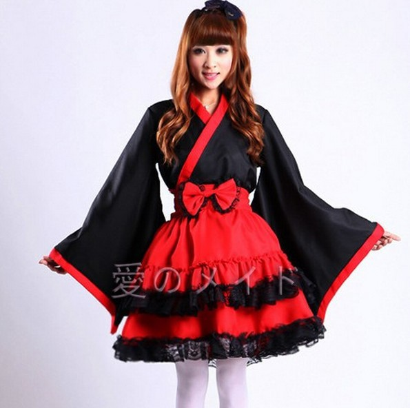 Gothic Lolita Maid Dress Cosplay Costume Japanese Halloween costumes for women(China (Mainland)