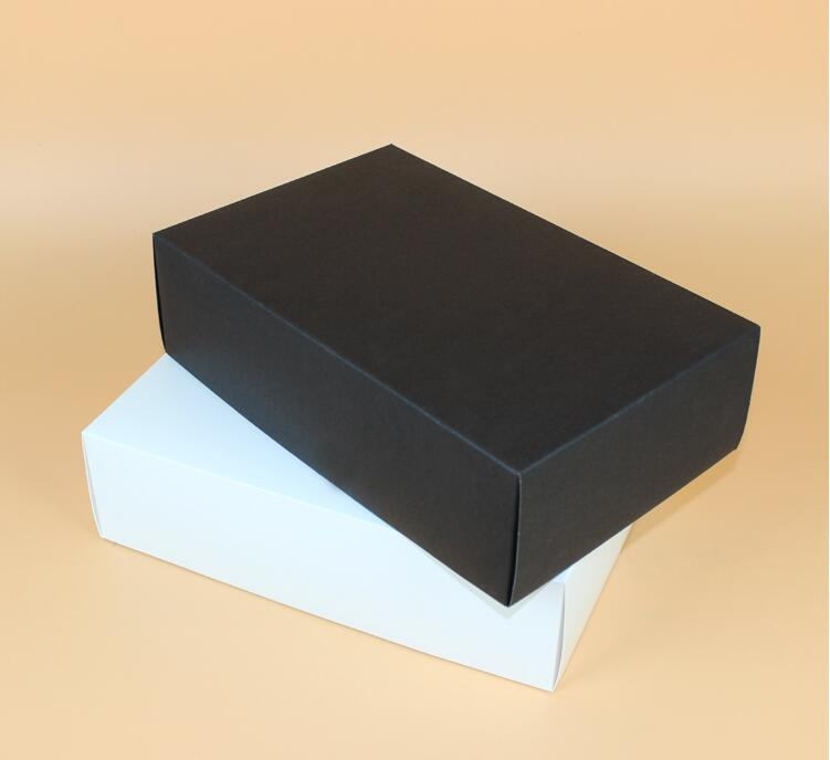 Us 45 18 5 Off 28 18 8cm Large White Black Corrugated Thick Paper Box With Lid Gift Kraft Gift Paper Box T Shirt Packging Box Large In Gift Bags
