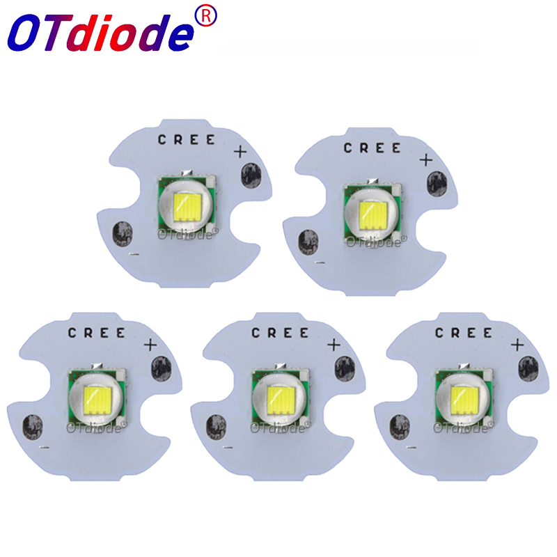 5PCS CREE XML XM-L T6 LED U2 10W WHITE High Power LED Emitter Diode With 12mm 14mm 16mm 20mm PCB For DIY