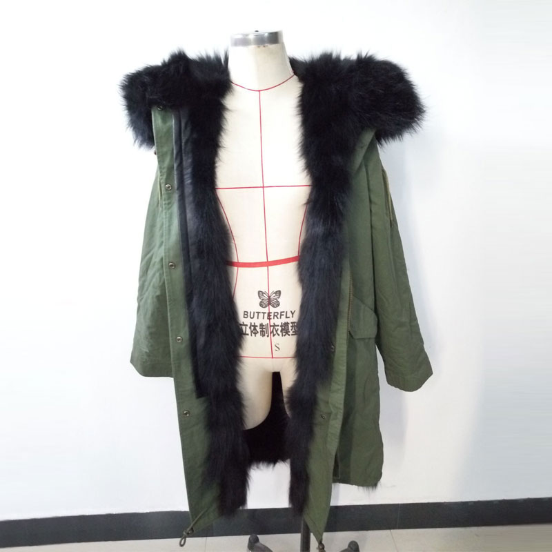 Aliexpresscom  Buy New Mrs Fur Style Black Long Hair Fox -8894
